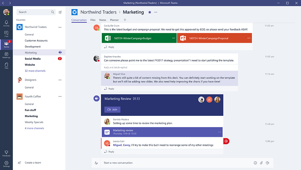 Microsoft-Teams-channel-web The obvious bid management enabler — introducing Microsoft Teams—the chat-based workspace in Office 365